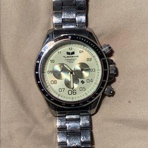 Vestal Silver w/ gold Big Face Watch